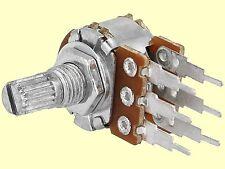 1 pc. Poti Potentiometer linear stereo  R16  100K 125mW  Achslänge: 9mm NEW
