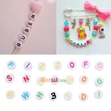 300pcs Charm DIY Spacer Beads Mixed Round Acrylic Letter Alphabet Handmade Craft