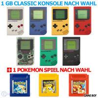 GameBoy Classic Konsole (Farbe nach Wahl) + Nintendo Pokémon Spiel nach Wahl