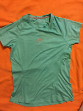 NIKE Dri-Fit 'Run' Running Athletic Shirt SMALL s mint green lt aqua euc cool