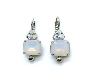 Mariana Earrings Adorable White Opal & AB Crystal Swarovski On A Clear Day Sw...