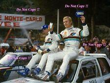 Ari Vatanen Peugeot 205 Turbo 16 Winner Monte Carlo Rally 1985 Photograph 4
