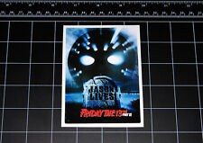 Friday the 13th Part 6 movie decal sticker Jason Vorhees Crystal Lake 80s horror