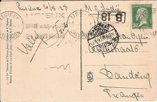 France 1928 Pasteur  franking postcard Lisieux to NETHERLANDS INDIES