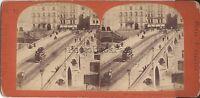 Parigi Istantanea Pont Da La Tournelle Foto Stereo Vintage Albumina Ca 1865