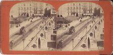 Paris Pont Neuf France Photo Stéréo Stereoview Vintage albumine ca 1870