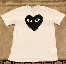 Comme Des Garcons CDG Play Tee White/Black Size XL (Fits Like a Medium)