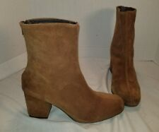 ANTHROPOLOGIE FREE PEOPLE WORLD TOUR BROWN SUEDE ANKLE BOOTS US 8 EUR 38