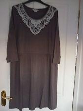 BODEN FAYE DRESS, DRAPEY JERSEY PEWTER. UK 18 REG, EUR 44-46, US 14. BNIB. WH733
