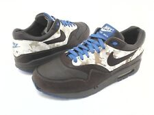 NIKE Air Max 1 Sneakers Brown Leather 2005 309740 Truques Mens US 10.5/44.5 RARE