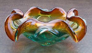 Venetian Murano Art Glass Ashtray Mid Century