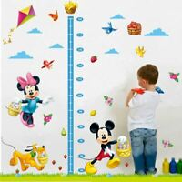 Minnie Mickey Mouse Growth Chart Height Measure Kids Baby Nursery Wall Sticker