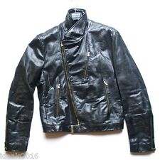 Gianni Versace Jeans Couture Unisex Leather Biker Sports Jacket