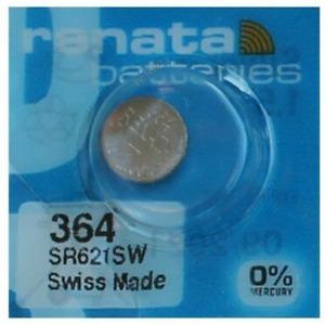 Pile pour montre Renata SR621SW 364 AG1 SR621 SR60 pile bouton 0% mercure Swatch