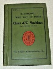 Singer 1914. Illustrated Price List Of Parts for Class 47K Machines. 67 pages