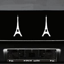 2 Autocollant Tatouage 20 cm Blanc Voiture Porte Mur Deco DIAPOSITIVE Paris Tour Eiffel Eiffel