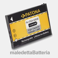 CGA-S003 Batteria PATONA per Panasonic D-Snap SV SV-AS10PP-S SV-AS10-R (MS0)