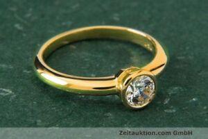 Ring Rom 18k Gold Solitär Diamant Brillant 0,53 CT WERT ca. 4.976,- EURO