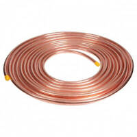 "1/4"" OD x 50 Feet Soft Copper Refrigeration Tube Coil AC MADE IN USA"