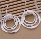 925 Sterling Silver Round Drop Dangle Hook Earrings New Fashion Stunning