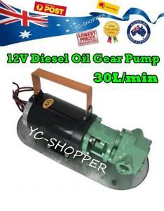 12V 550W Diesel Biodiesel Oil Transfer Fuel Gear Pump Heavy Duty 30L/min
