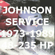 Johnson Evinrude Outboard Engine Service Manual 1973 to1989 48 to 235 Hp PDF CD