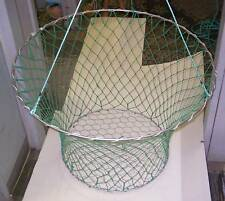 Heavy Duty 2 Ring Crab/Cray Net - Wire Mesh Bottom -