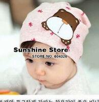Baby Girls Kids Infant Boys bear kids baby Beanie headband hat Cap