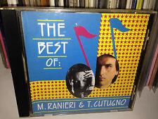 """MASSIMO RANIERI & TOTO CUTUGNO RARO CD """" THE BEST OF """" STAMPA CANADESE"""