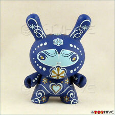 Kidrobot Dunny 2010 Fatale vinyl blue figure by Catalina Estrada with card loose