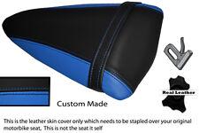 LIGHT BLUE & BLACK CUSTOM FITS KAWASAKI NINJA ZX6R 07-08 PILLION SEAT COVER