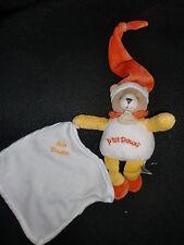 peluche ours p'tit doux blanc orange jaune Mon DOUDOU ET COMPAGNIE