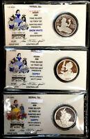 DISNEY 1/2 Oz .999 Fine Silver Round Coin ~ THREE (3) DlFFERENT COINS ~ L@@K