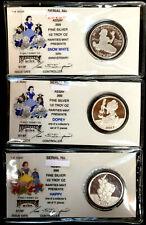 DISNEY 1/2 Oz .999 Fine Silver Round Coin ~ THREE (3) DlFFERENT COINS ~ SWDH7OYM