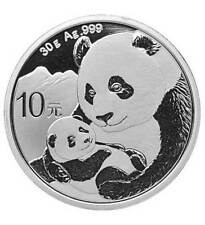 Silbermünze China 10 Yuan Silber China Panda 2019 (Feinsilber 30 g)