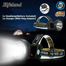90000LM LED Rechargeable Headlight Headlamp Light 18650 Torch Camping + Charger