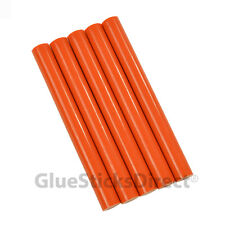 "GlueSticksDirect Orange Colored Glue Sticks 7/16"" X 4""   5 sticks"