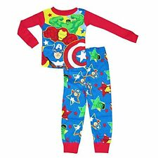 Marvel Avengers Long Sleeve Pajama Sleepwear Little Boys' 4T Red New with tags