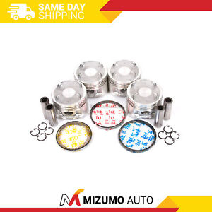 Pistons w/ Rings fit 88-89 Toyota Corolla GTS GEO 1.6L 4AGE