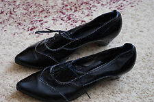 """Womens GENUINE LEATHER Shoes  EXCELLENT """"used twice"""" SIZE EURO 38, US 8"""