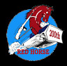 RED HORSE US AIR FORCE CIVIL ENGINEER 823RD SQUADRON HAT PIN UP AFB USAF WOW