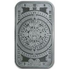Barre Argent 999/1000 Calendrier Aztèque 1 once