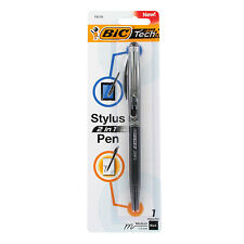 BIC Tech 2 in 1 Retractable Ball Pen and Stylus, Medium Point, 1.0mm, Black Ink,