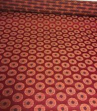 Belle rouge broderie Damas Designer Rideau up tissu 4.6 mètres.