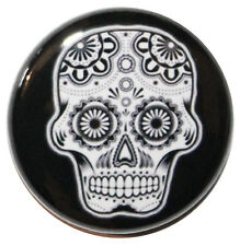 "1"" (25mm) Mexican Sugar Skull Button Badge Pin - High Quality Custom Badge"