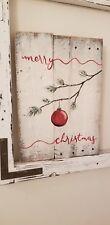 Merry Christmas Reclaimed Wood Pallet Farmhouse Sign