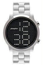 Phosphor Appear Swarovski Silver Crystals Mechanical Digital Watch MD013G