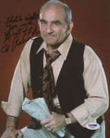 """Ed Asner Signed 8x10 Photo Inscribed """"That's Right! You Win! PSA/DNA COA L@@K!!!"""