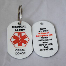 Personalised Medical Alert Keyring - Organ Donor