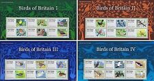 Birds of Britain I, II, III and IV Post and Go Presentation Packs 2010-2011